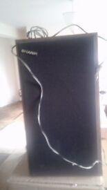 Pair of SHARP speakers.