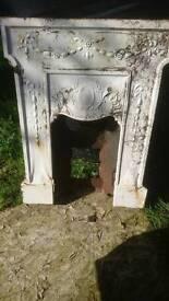 Cast fireplace