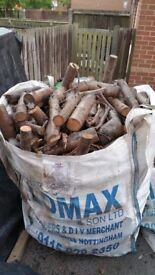 Fire logs full bulk bag stored over a year to dray!collection only! Thank you