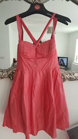Peach glitter party dress size 14