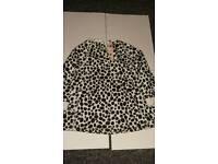Girls cow print jumper size 12-18 mths