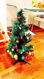 Pre lit decorate 90cm Christmas tree