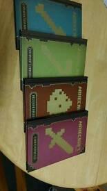 4 x Minecraft books