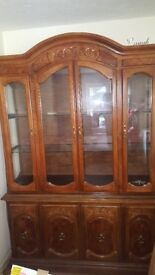 Beautiful glass/wooden dresser