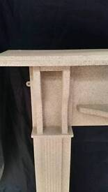 Fire surround grey marble effect