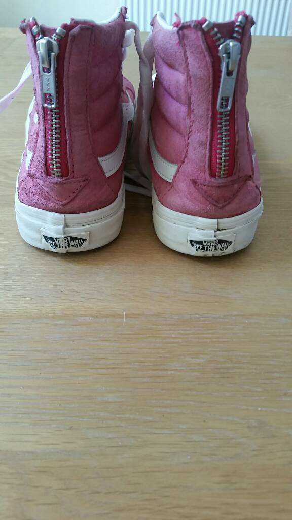6e38cbd62c Pink suede high top Vans ladies size 7