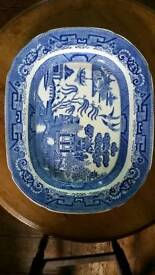 William Ridgway platter - willow pattern