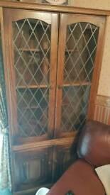 Wood /Glass door dresser