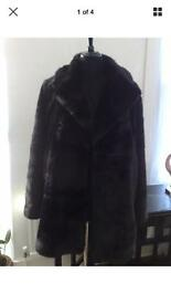 Zara faux fur coat size S