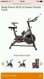 Brand New Black & Red Body Power Exercise Spin Bike