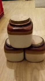 Trio Of Storage Pots