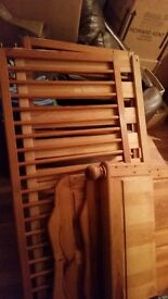 Lovely pine cot bed in very good condition