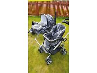 Mamas and Papas Travel System, Ultima 9 in 1 & MPX Chasis – Black Couture
