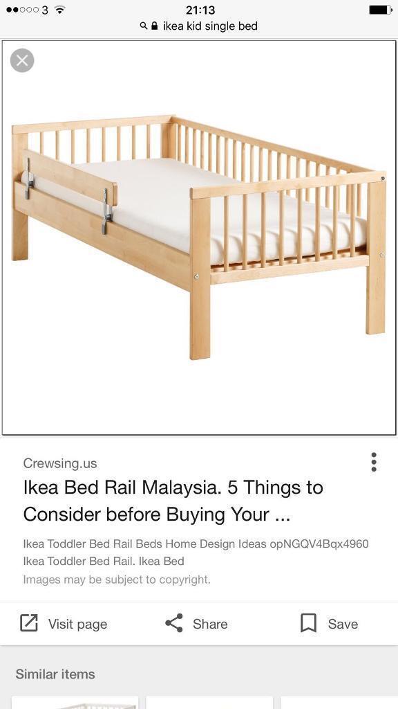 Junior bed with mattress