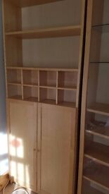 Display Units x 4 inc cupboard and glass fronted