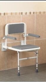 SHOWER SEAT WALL MOUNTED WITH BACK & ARMS