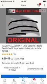 Vauxhall Astra wind deflectors 04-10