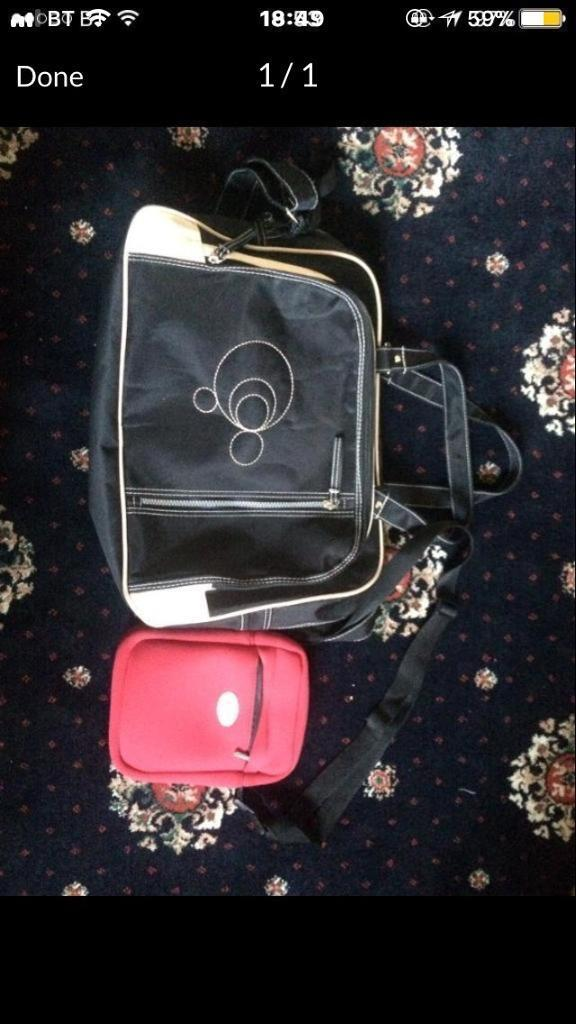 Baby travel bag and milk warmer