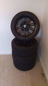 Black BMW alloys and tyres