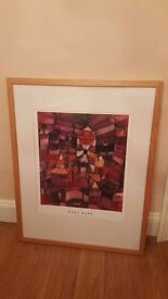 "Large framed Paul Klee ""the rose garden"" print"