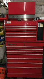 Snap on tool box with keys