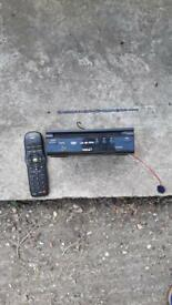 Car DVD player with remote