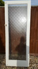 Glazed front door