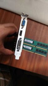 PC Graphics card VGA, HDMI and DVI and 2 GB card.