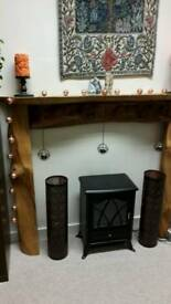 Hand made rustic fire surround