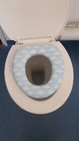 Blue Toilet trainer seat