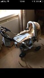 Dolls pushchair pram taller than most
