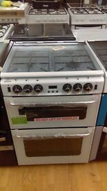 NEWWORLD white 60Cm Gas Cooker in Ex Display which may have minor marks or blemishes.