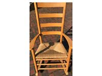 Wooden rocking chair lovely condition