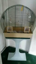 Unusual shaped budgie cage