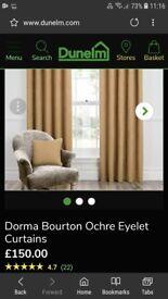 Dunelm Dorma Eyelit Curtains incl Pole