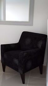 Next sparkle Armchair black with silver design arm chair not sofa
