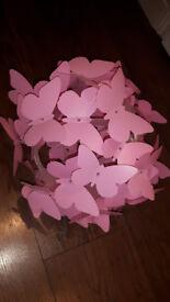 Lamp shade butterflies