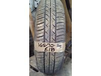 165-70-14 Maxxis 81T 6mm Part Worn Tyre