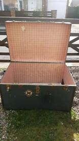 1920 antique shipping trunk