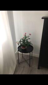 Tray table from IKEA, black