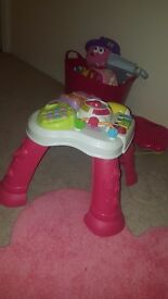 Activity table perfect for children learning to stand and cruise
