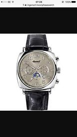 Ingersoll Moon Phase Day Month Date, Automatic Wind Movement, Sapphire Crystal Front And Back Glass