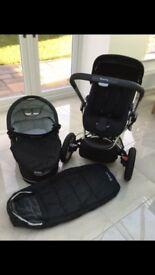 Black Quinny buzz pram/pushchair