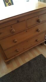 Pine chest of drawers - victorian