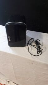 Black Mini Fridge with Mains Cable in Good Condition