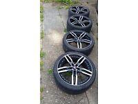 Alloy Wheels with Tyres Axe Design