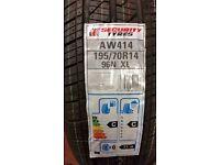 2 x Brand new tyres - 195/70R14 96N XL