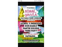 3 x Creamfields Steelyard Axwell & Ingrosso Sunday 28th May