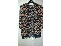Floral new look thin cardigan/jacket