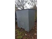 Galvanized coal bunker